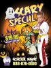 Martial Arts Halloween Ad cards Karate